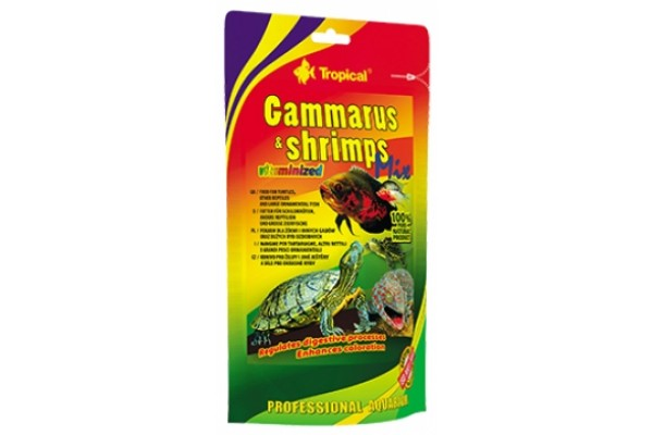 Tropical Gammarus&Shrimps Mix 130g Zacskós