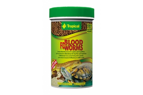 Tropical Fd Blood Worms 100ml/7g Dobozos