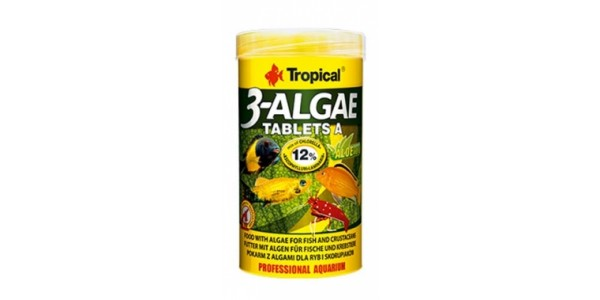 Tropical 3 Algae Tablets A 50ml/36g Tabl. Dobozos