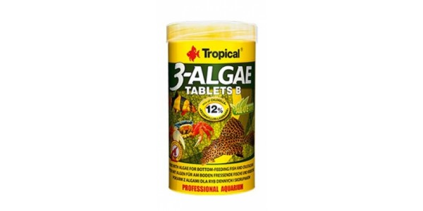 Tropical 3 Algae Tablets B 250ml/150g Tabl. Dobozos