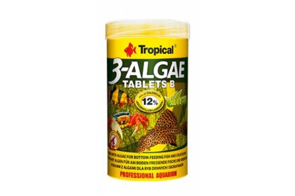 Tropical 3 Algae Tablets B 50ml/36g Tabl. Dobozos