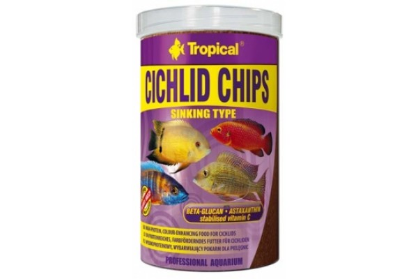 Tropical Cichlid Chips 1000ml/520g Dobozos