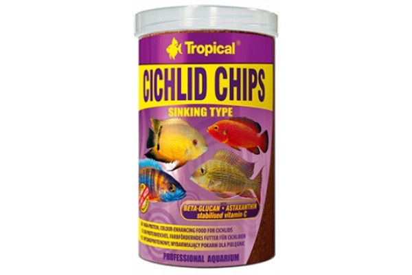 Tropical Cichlid Chips 250ml/130g Dobozos
