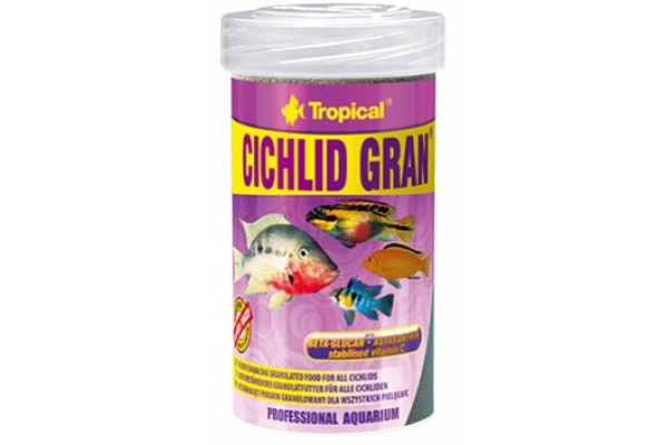 Tropical Cichlid Gran. 100ml/55g Dobozos