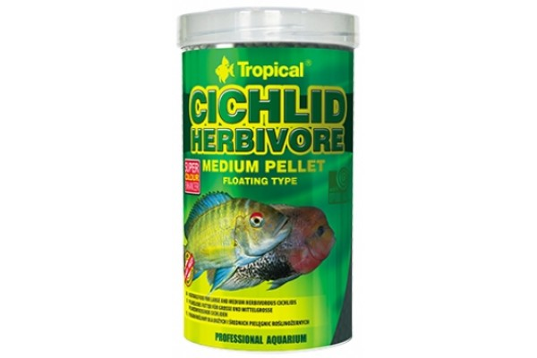 Tropical Cichlid Herbivore Medium Pellet 500ml/180g Dobozos