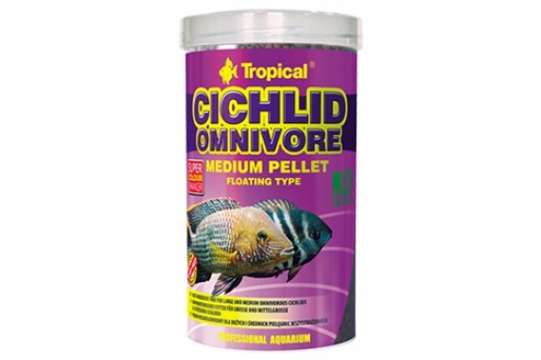 Tropical Cichlid Omnivore Medium Pellet 500ml/180g Dobozos