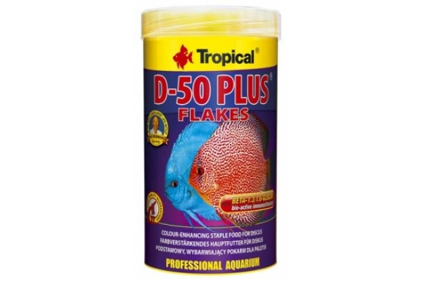 Tropical Discus D-50 Plus 250ml/50g Lemezes Dobozos