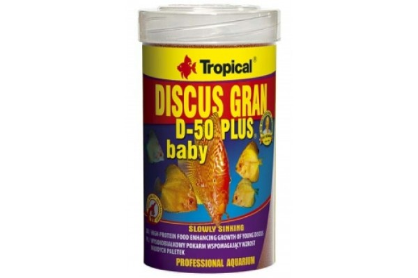 Tropical Discus D-50 Plus Baby Gran. 100ml/52g Dobozos
