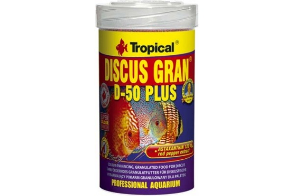 Tropical Discus D-50 Plus Gran. 100ml/38g Dobozos
