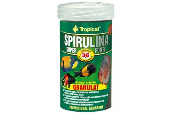 Tropical Super Spirulina Forte Gran. 100ml/60g Dobozos