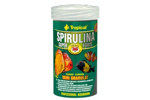 Tropical Super Spirulina Forte Mini Gran. 100ml/56g Dobozos