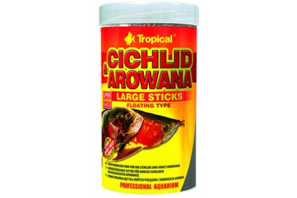 Tropical Cichlid&Arowana Large Sticks 250ml/75g Dobozos